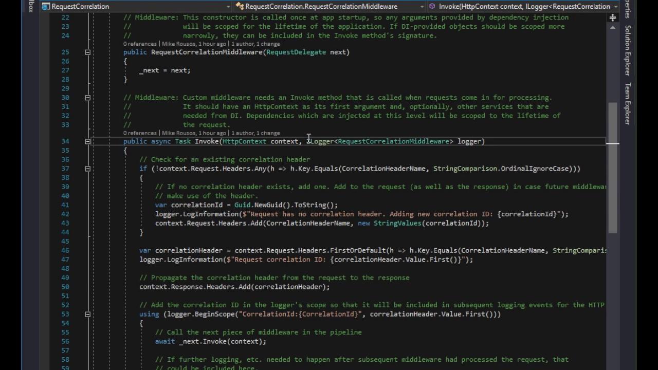 Middleware in ASP NET Core
