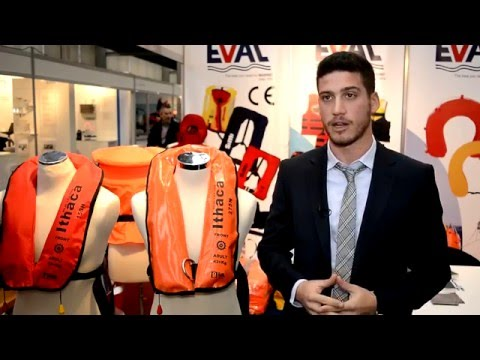 "EVAL SA Presents the new Solas Inflatable Lifejacket ""Ithaka"" at Mets 2014"