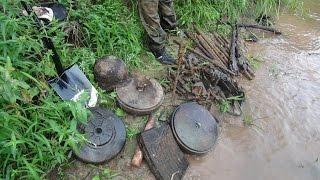 Раскопки на Железной реке \Searching relics of WW2  in the River
