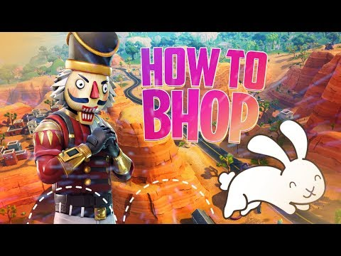 How To BunnyHop In Fortnite! (MOVE FASTER TRICK!)