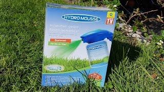 Hydro Mousse Sprührasen Test und Vergleich mit normalen Samen