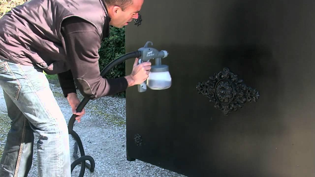 08 youtube - Peindre un portail en bois ...