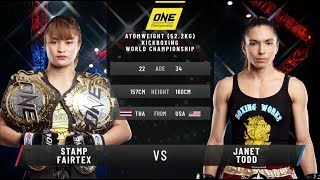Stamp Fairtex vs. Janet Todd II: ONE King of the Jungle (FULL MATCH)