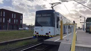 4K | Sneltram 51 vertrekt met veel bellen uit Amstelveen Westwijk!