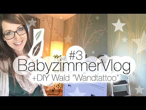 """☆ DIY - Babyzimmer Vlog #3 I Wald """"Wandtattoo"""" selber machen !"""