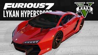 Zentorno: Furious 7 Lykan Hypersport Build [GTA5 PS4]