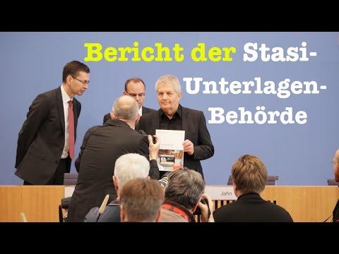 Der 13. Tätigkeitsbericht der Stasi-Unterlagen-Behörde mit Roland Jahn - BPK vom 21. März 2017