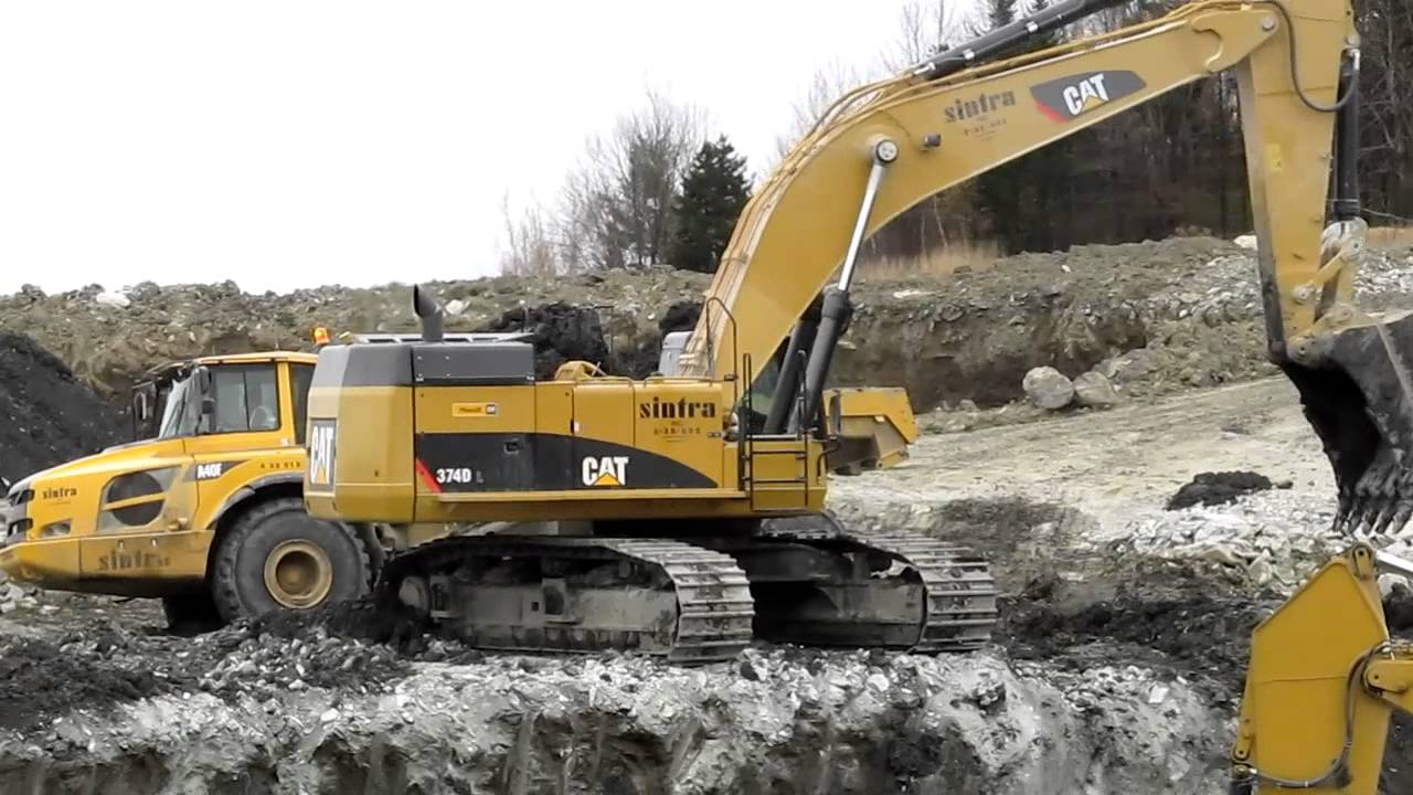 Cat 374d L 345c L Amp Volvo A40f S Youtube