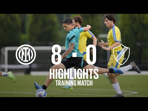 INTER 8-0 PERGOLETTESE   TRAINING MATCH HIGHLIGHTS   Darmian, Satriano and Pinamonti with a brace!