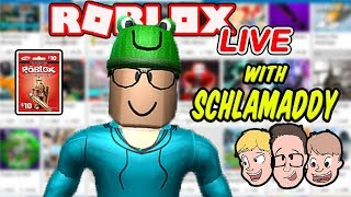 Roblox LIVE with Schlamaddy | New Game Every 10 Minutes | Enter Our Robux Giveaway | Family Friendly