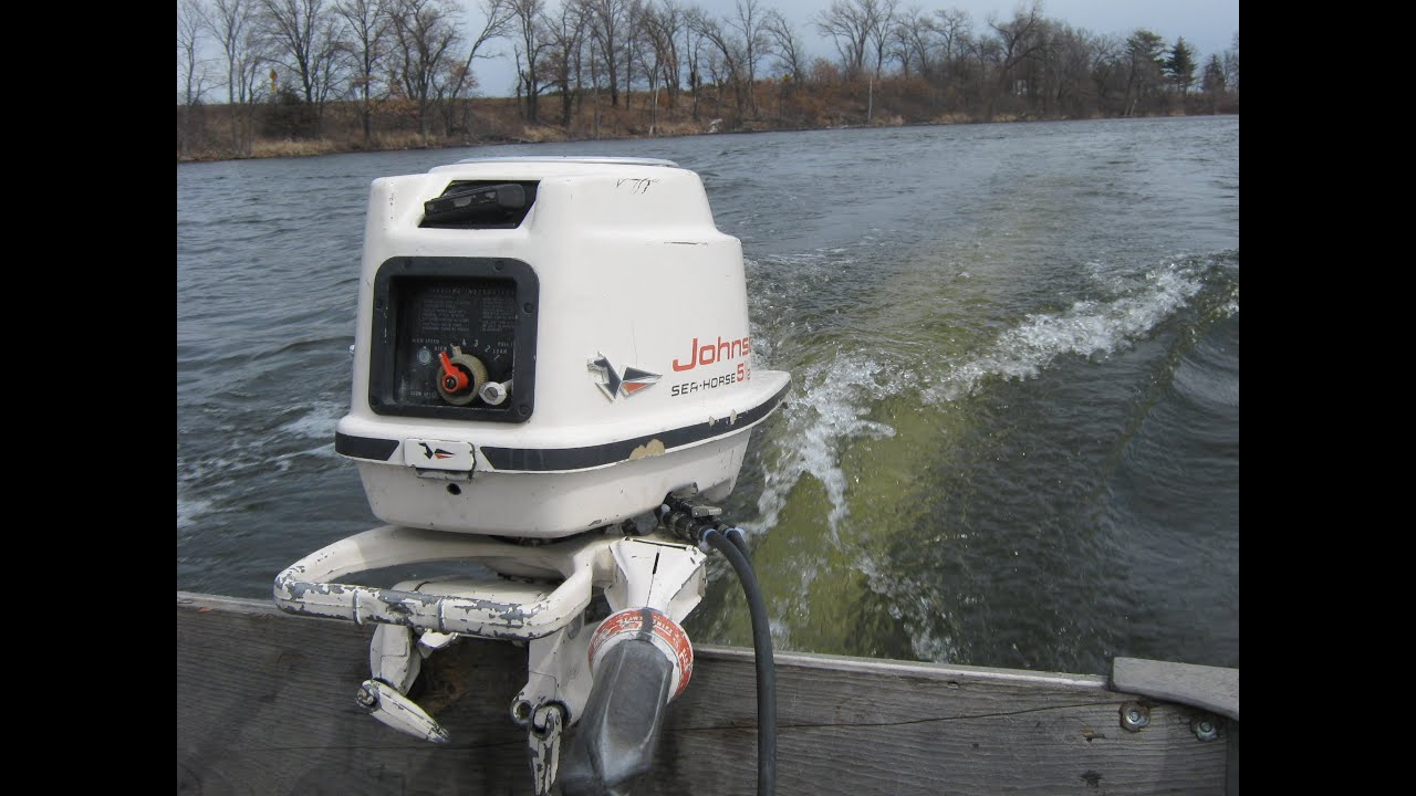 1959 johnson outboard motor youtube for 5hp outboard motor for sale