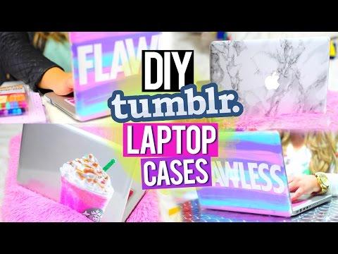 DIY TUMBLR LAPTOP CASES ♥ Marble, Starbucks & More!