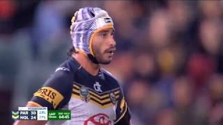NRL: 5 Tries in 12 minutes! Cowboys v Eels - 2015, Rd 13