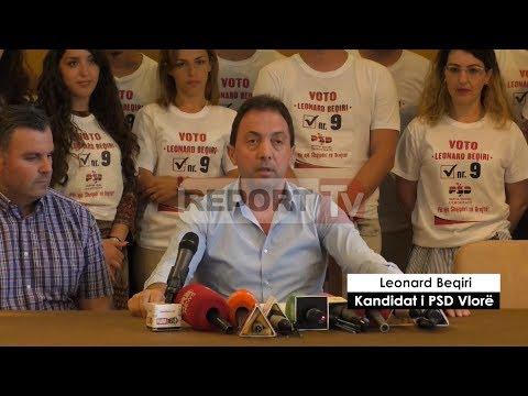 Report TV - Vlorë, tërhiqet kandidati i PSD Leonard Beqiri:Mbështes Ramën