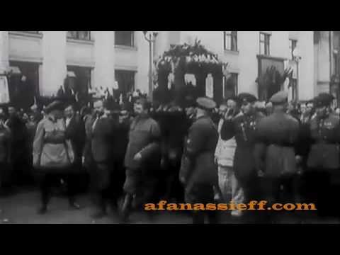 Maxime Gorki Funeral, Rare Footage