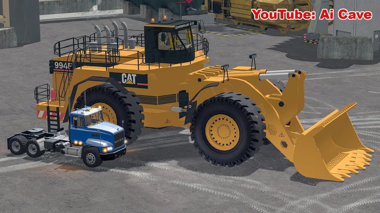 The Biggest wheel loader Mod in Farming Simulator 2017  For crazy large  mining