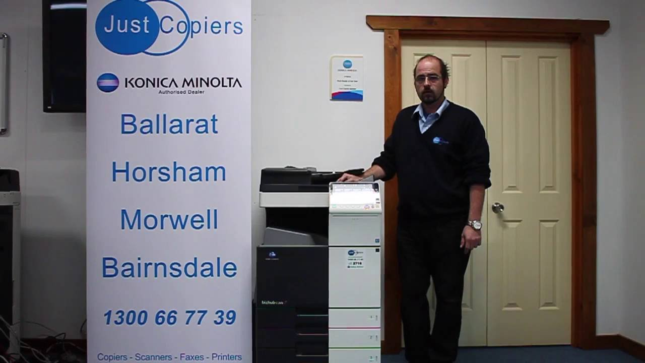 Clearing a C-0214 Error Code on a Konica Minolta Bizhub (with a PC-410  Large Capacity Tray)