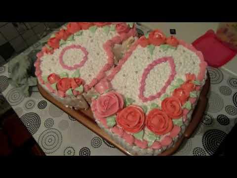 украшения тортов к юбилею