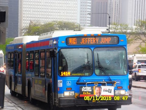 Chicago Transit Authority: Jeffery JUMP (Limited-Stops) to Ogilvie METRA Station... FULL RIDE!