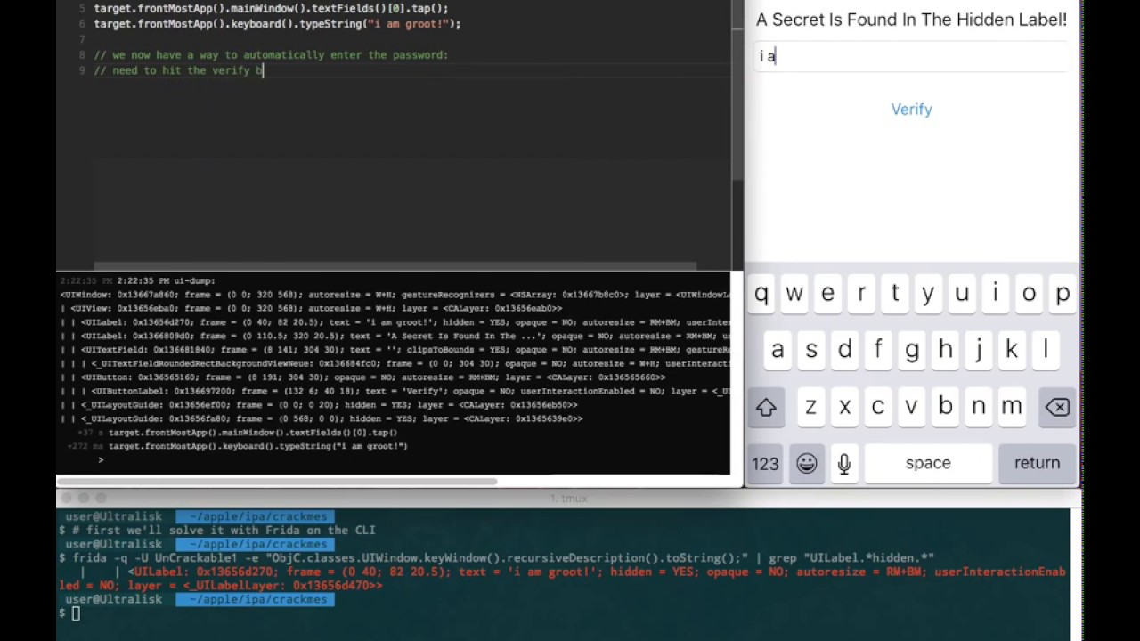 OWASP iOS Crackme Tutorial: Solved with Frida | NowSecure Blog