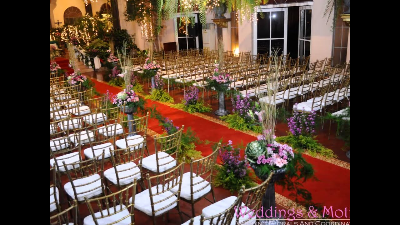 Weddings And Motifs Ceremony Arrangement St Francis Chapel Fernwood Gardens QC