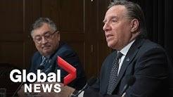 Coronavirus outbreak: Quebec premier issues call for volunteers   FULL