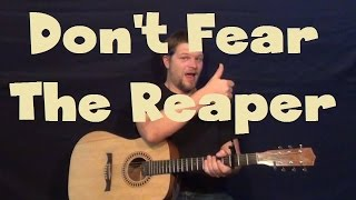 Don't Fear The Reaper (Blue Oyster Cult) Easy Guitar Lesson How to Play Strum Chords Licks TAB
