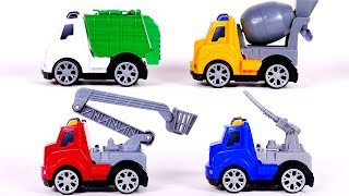 Learn Colors with Trucks for Children and Yippee Toys