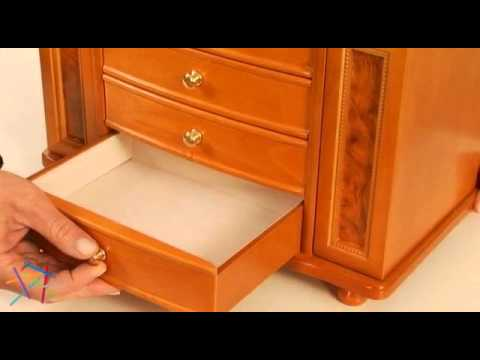 Mele Josephine Wooden Jewelry Box 14W x 11 5H in - Product Review Video