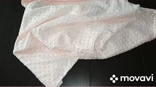 МК Двусторонне летнее одеяло с бантом для новорожденных
