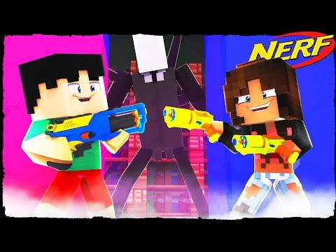 Minecraft - NERF WARS - Scary NERF Gun Battle VS GHOST!