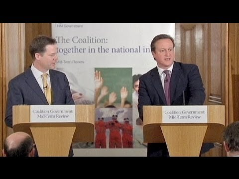 Cameron and Clegg in cosy coalition