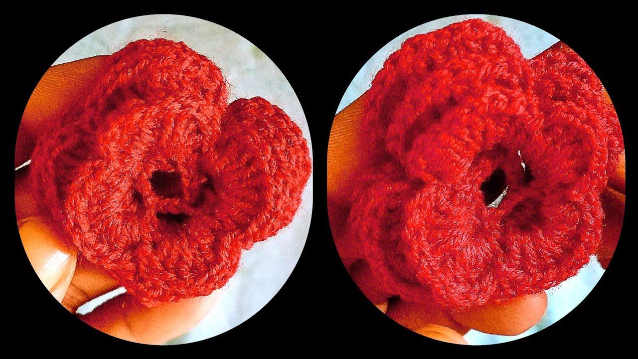 Simple & Beautiful Crochet flower video tutorial/ Handmade flower design/ Easiest to Make at Home