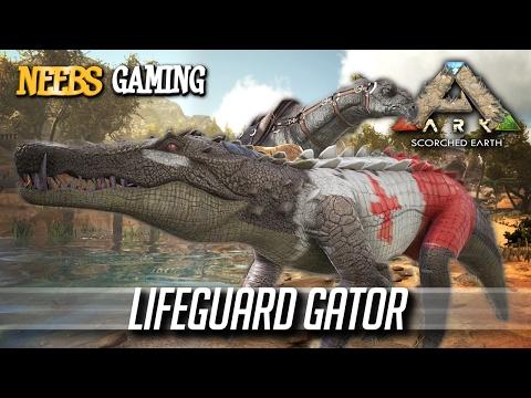 Ark: Survival Evolved - LIFEGUARD GATOR!