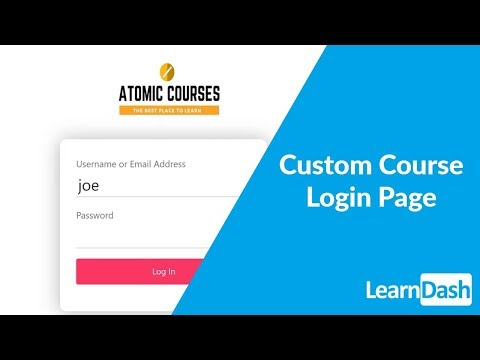 Creating A Custom Course Login Page