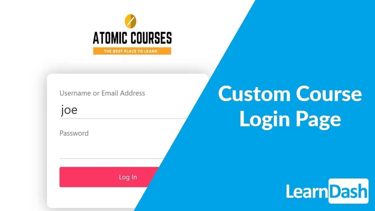 Creating a Custom Course Login Page - LearnDash