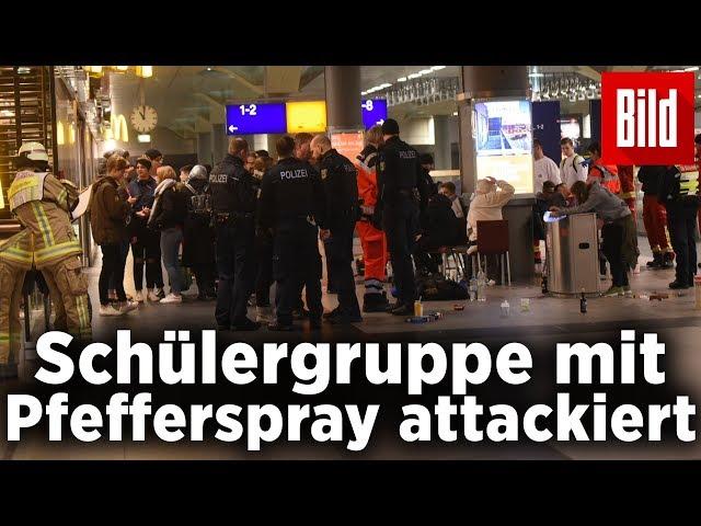 Sieben Schüler durch Pfefferspray-Attacke am Hauptbahnhof verletzt