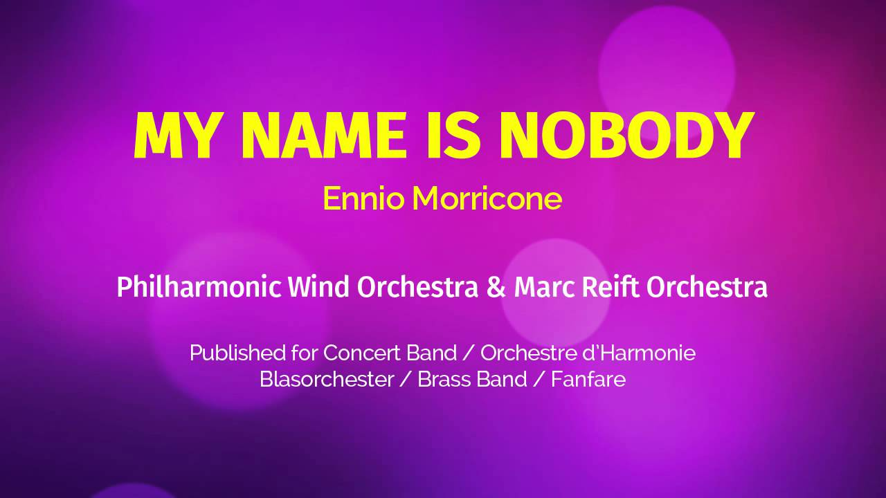 Editions Marc Reift - My Name Is Nobody