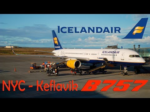 TRIP REPORT | ICELANDAIR Boeing 757-200 | New York JFK to Keflavik (1080p HD)