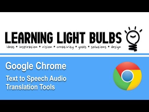 Google Chrome Extensions | Text to Speech Audio Translation Tools