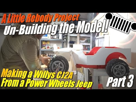 Mini Willys CJ2A Part 3: Un-Building the Model for Sheet Metal Fabrication