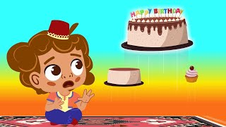 Aladdin -  Sherin's birthday is in great DANGER trapped in a FLYING CARPET - Fairy Tales cartoons