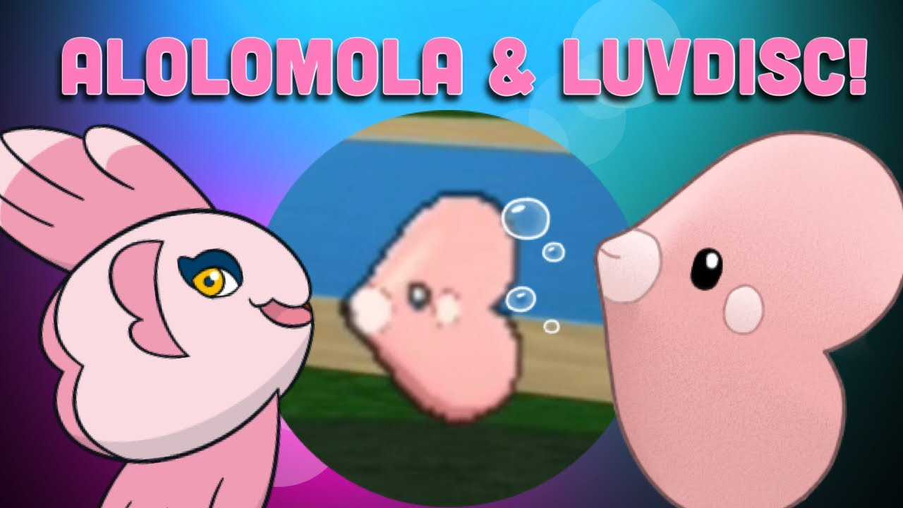 How To Get Alomomola And Luvdisc Pokemon Brick Bronze Youtube