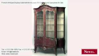 French Antique Display Cabinet/vitrine Louis Xiv Cabinets