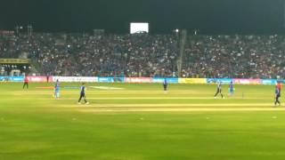Paytm ind vs end first odi pune virat kohli 122 moment flash lights looking so beautiful mca stadium