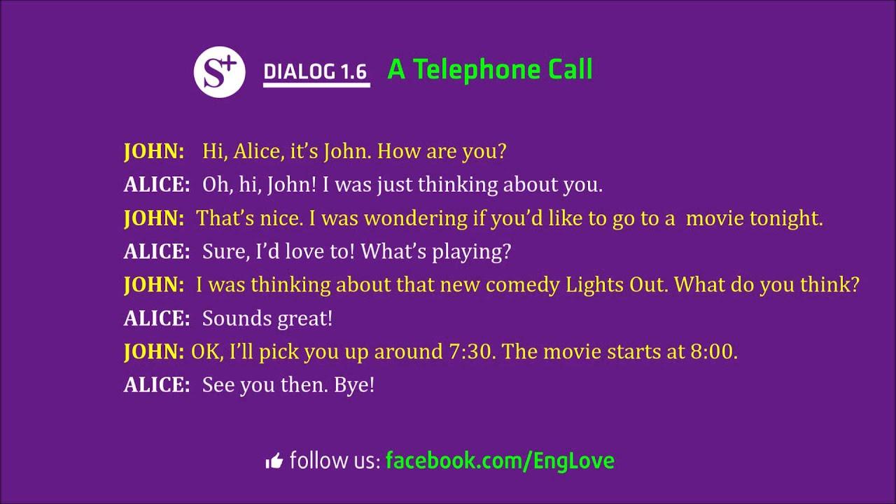 Dialogue 1 6 A Telephone Call