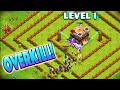 LEVEL 1 BASE VS MAXED WITCHES! - Clash of Clans - So Much Overkill!