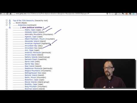 Metadata MOOC 4-6: Thesaurus of Geographic Names (TGN)