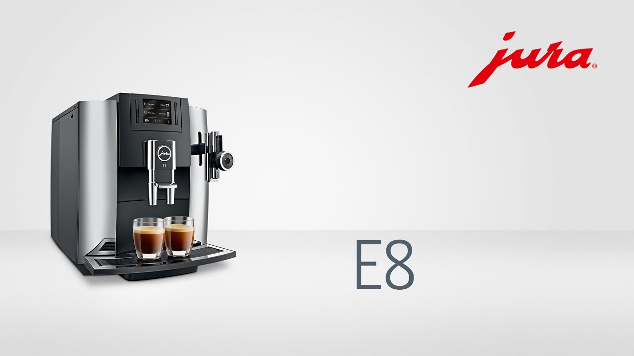 jura e8 kaffeevollautomat fully automatic coffee machine youtube. Black Bedroom Furniture Sets. Home Design Ideas