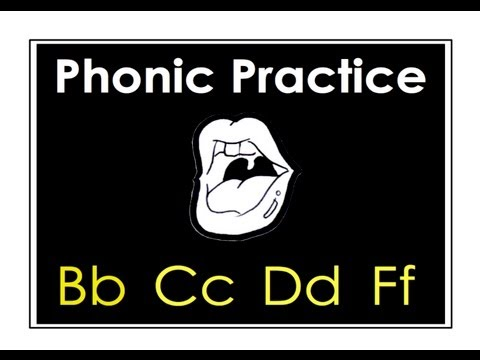 English Letters: Bb. Cc, Dd, Ff. English Phonics Pronunciation Practice